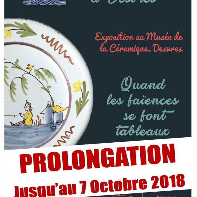 «Quand les faïences se font tableaux» est prolongée jusqu'au 7 octobre 2018